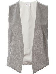 Brunello Cucinelli Beaded Waistcoat Nude And Neutrals