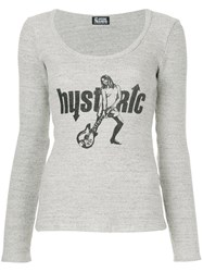 Hysteric Glamour Hysteria Print T Shirt Grey