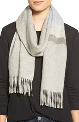 Women's Nordstrom Stripe Cashmere Scarf Grey Grey Shade Combo