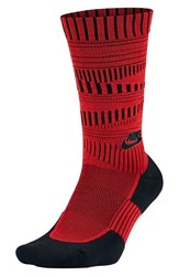Nike Men's Crew Socks University Red Black