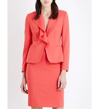 Max Mara Dardano Stretch Wool Jacket Coral