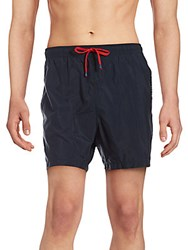 Saks Fifth Avenue Solid Drawstring Shorts Blue