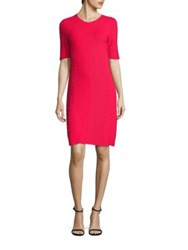 Boss Farsiris Textured Herringbone Dress Ruby Red
