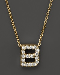 Roberto Coin 18K Yellow Gold And Diamond Initial Love Letter Pendant Necklace 16
