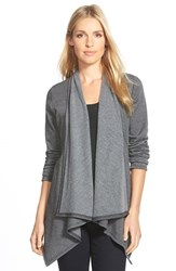 Bobeau Women's Peplum Back Open Front Cardigan