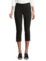 Ivanka Trump Straight Leg Cropped Pants Black