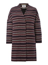 Noa Noa Blanket Coat Blue