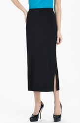 Ming Wang Women's Side Slit Knit Midi Skirt