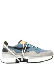 Diadora Logo Embroidered Sneakers Blue