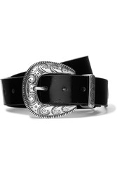 Magda Butrym Patent Textured Leather Belt Black