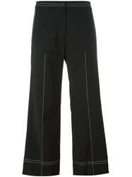 Each X Other Wide Legged Cropped Trousers Black