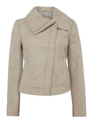 Bernardo Winged Collar Jacket Beige