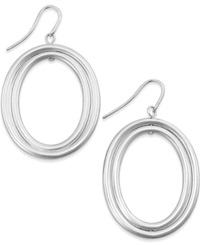 Alfani Oval Double Drop Earrings Silver