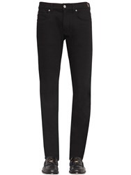 Versace 18.5Cm Heart Stretch Cotton Denim Jeans Black