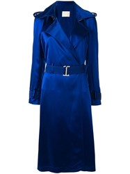 Dion Lee Trench Midi Dress Blue