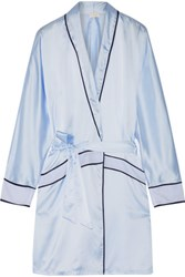 Cosabella Sophisticated Satin Robe Sky Blue