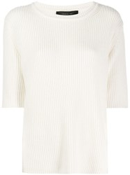 Federica Tosi Short Sleeve Fitted Top White