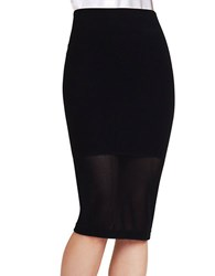Bcbgeneration Mesh Panel Skirt Black