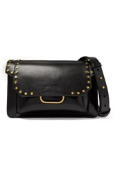 Isabel Marant Maskhia Studded Leather Shoulder Bag Black