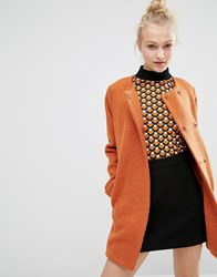 Monki Clean Car Coat Orange