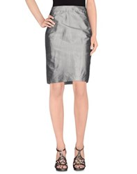D.Exterior Skirts Knee Length Skirts Women Grey
