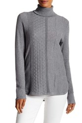 Cullen Multi Stitch Turtleneck Sweater Gray