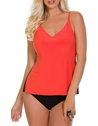 Magic Suit By Miraclesuit Solid Venus Tankini Orange