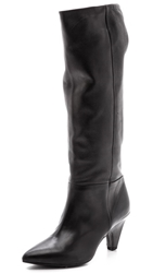 Vic Italy Pointed Toe Booties Black
