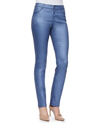 Lafayette 148 New York Coated Curvy Slim Leg Jeans Riviera