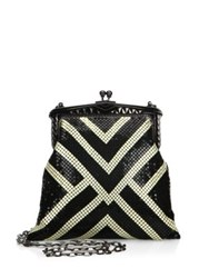 Whiting And Davis Limited Edition Poiret Mesh Clutch Black Ivory