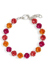 Women's L. Erickson 'Ava' Statement Bracelet Indian Pink Tang Fuch Silvr