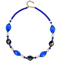 Martick Twist Murano Glass Necklace Blue Multi