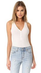 Getting Back To Square One Button Front Bodysuit Vanilla Ice