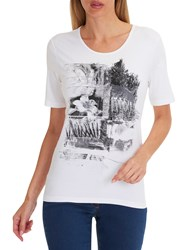 Betty Barclay Embellished Motif T Shirt White Black