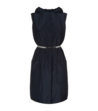 Max Mara Hooded Belted Gilet Female Blue