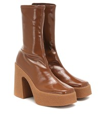 Stella Mccartney Faux Leather Ankle Boots Brown