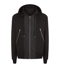Mcq By Alexander Mcqueen Full Zip Hood Jacket Male Black