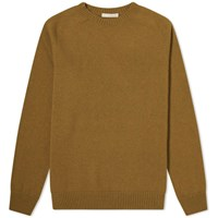 Margaret Howell Saddle Crew Knit Green