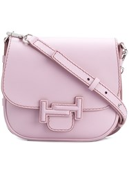 Tod's Double T Shoulder Bag Pink And Purple