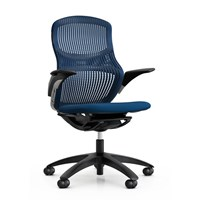 Knoll Generation Colored Office Chair Height Adjustable Dark Plastic Hard Wheel Bluemarine Bluemarine Multicolor