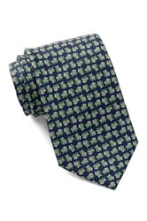 Tailorbyrd Frog Prince Silk Tie Blue