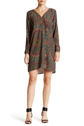 Charlie Jade Print Short Dress Brown