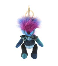 Burberry Thomas Bear Charm With Fur Trim Blue