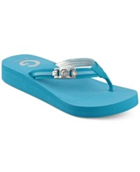 G By Guess Women's Ali Flip Flops Women's Shoes Blue