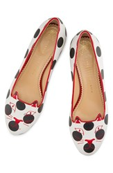 Charlotte Olympia Women's Polka Dot Kitty Flat