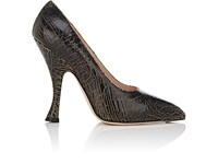 Cnc Costume National Donna Crackled Leather Pumps Black