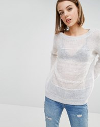 Selected Stine Cable Knit Detail Jumper Grey