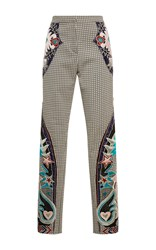 Mary Katrantzou Labyrinth Embroidered Trouser Tan