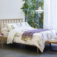 Christy Ardingly Duvet Set Purple White