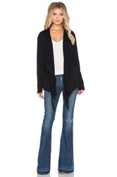 Nation Ltd. Molly Fringe Cardigan Black